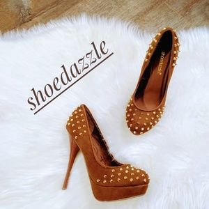 EUC ~ SHOE DAZZLE Sexy Spiked Platform Heels